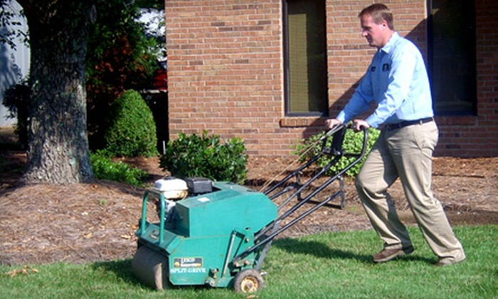 Secure Turf - Matthews: $99 for Lawn Aeration and a Fertilization Treatment from Secure Turf ($259 Value)