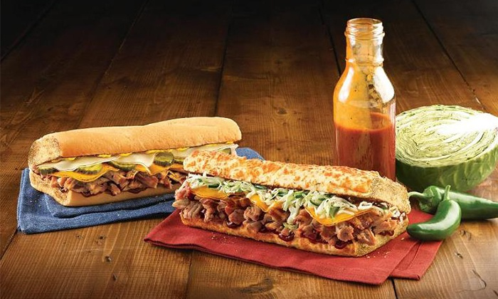 Quizno's #12555 - Quiznos: Submarine Sandwiches at Quizno's #12555 (Up to 44% Off). Three Options Available.