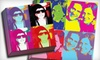 Picture it on Canvas **NAT**: 16-, 20-, or 24-Inch Square Four-Panel Pop-Art Photo Reproduction on Canvas from Picture It On Canvas (Up to 80% Off)
