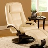 Mac Motion Leather Recliner Chair and Ottoman