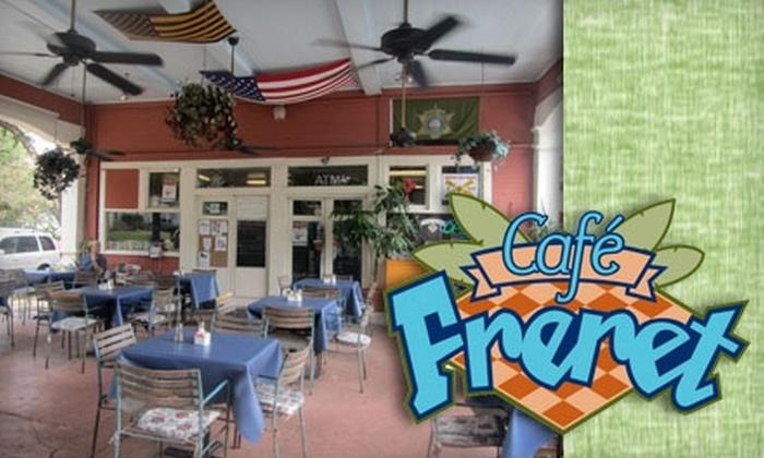 Café Freret - Audubon: $10 for $20 Worth of Café Cuisine and Drinks at Café Freret