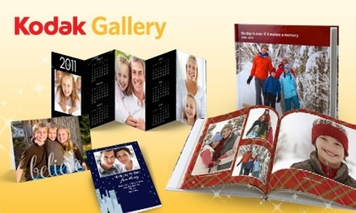 KODAK Gallery: $10 for $20 Worth of Photo Books or Holiday Cards, Plus Four Free Accordion Desktop Calendars at KODAK Gallery
