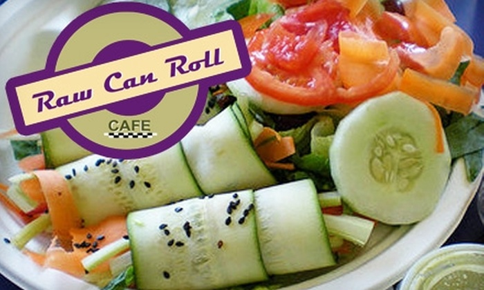 Raw Can Roll Cafe - Amity: $5 for $10 Worth of Organic Fare and Drink at Raw Can Roll Cafe