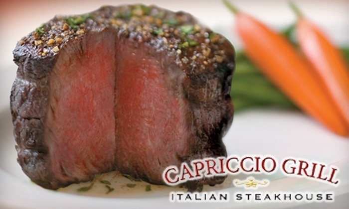 Capriccio Grill Italian Steakhouse - Little Rock: $30 for $60 Worth of Upscale Dinner Cuisine at Capriccio Grill Italian Steakhouse