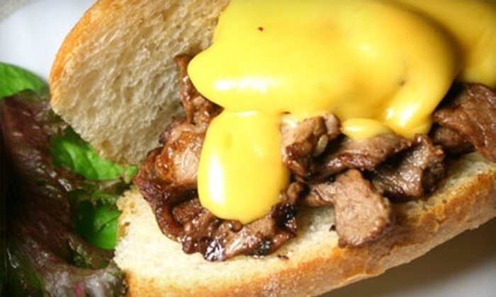 The Cheese Steak Shop - Downtown San Jose: $7 for $14 Worth of Cheesesteaks, Steak Fries, and More at The Cheese Steak Shop