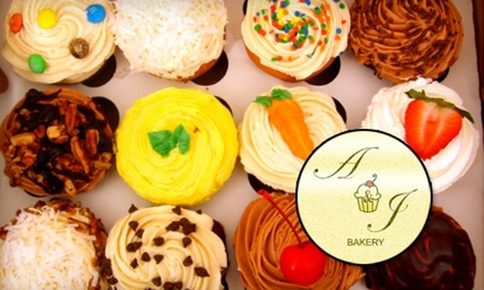 A&J Bakery - Multiple Locations: $12 for a Dozen Cupcakes at A&J Bakery or In the Mix Bakery
