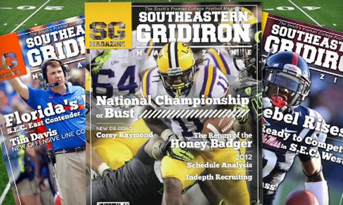 "Southeastern Gridiron Magazine - Mid City North: One-Year Silver or Gold or Two-Year Gold Subscription to ""Southeastern Gridiron Magazine"" (Up to 75% Off)"