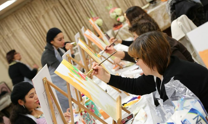 Vino & Picasso - Vino and Picasso: Social Painting Class for One or Two at Vino & Picasso (Up to 51% Off)