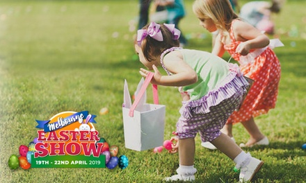 $9.50 for Easter Egg Hunt Entry Ticket for One Child, Melbourne Easter Show, 19 22 April 2019 Up to $11.58 value