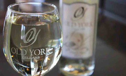 image for <strong><strong>Wine</strong> Tasting</strong> and Souvenir Glasses for Two or Four at Old York Cellars Bridgewater Mall <strong>Wine</strong> Bar (Up to 53% Off)
