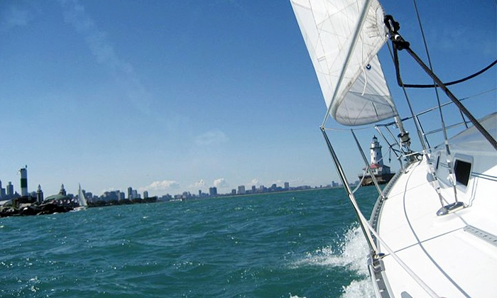 SeaBreeze Charter - Central Chicago: Two-Hour Private BYOB Sailing Charter for Up to Six People at SeaBreeze Charter (50% Off). Two Options.