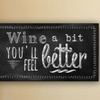 """20""""x36"""" Chalkboard Quotes on Gallery-Wrapped Canvas"""