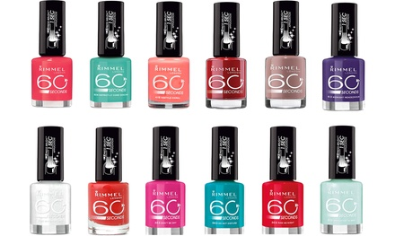 Eight Rimmel 60-Second Polishes