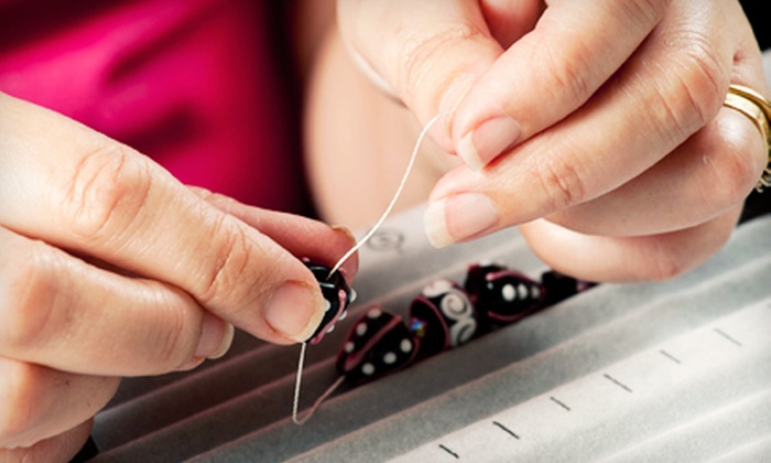 The Glass Bar - Needham: $45 for a Jewelry-Making Workshop with Materials Included at Arte Mozzafiato ($95 Value)