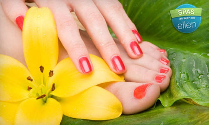 Revo Nails & Spa - Mount Pleasant: $32 for Shellac Manicure and Classic Pedicure at Revo Nails & Spa