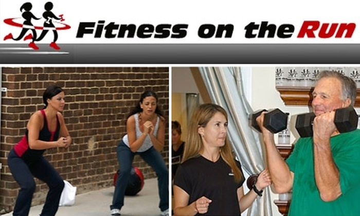 Fitness on the Run - Old Town: $55 for Two Personal Training Sessions at Fitness on the Run (Up to a $160 Value)