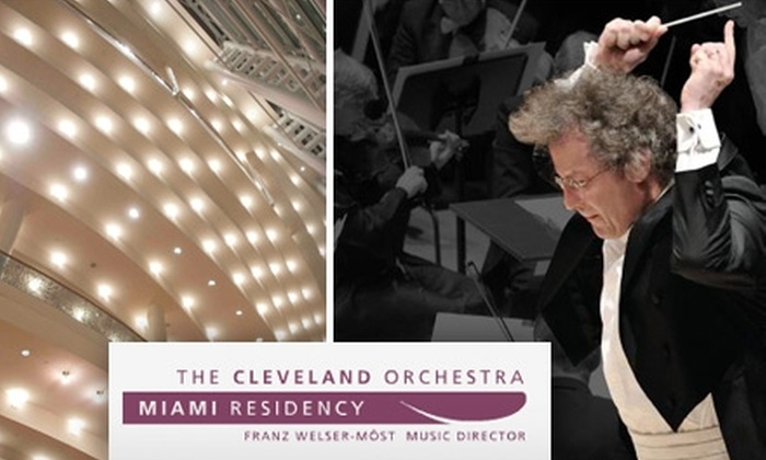 """Cleveland Orchestra Miami Residency - Media and Entertainment District: $15 Ticket to the Cleveland Orchestra's Miami Performance of """"Romeo and Juliet"""" ($40 Value). Buy Here for 3/26/10. See Below for Additional Date."""