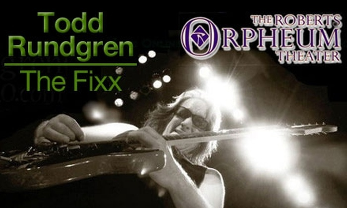 Todd Rundgren and The Fixx - Downtown St. Louis: $30 for One Ticket to See Todd Rundgren and The Fixx at the Roberts Orpheum Theater