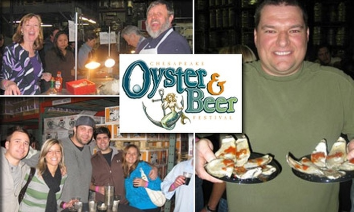 The Chesapeake Oyster & Beer Festival  - Lutherville - Timonium: $35 Admission Plus Tasting Glass at The Chesapeake Oyster & Beer Festival on Friday, November 20