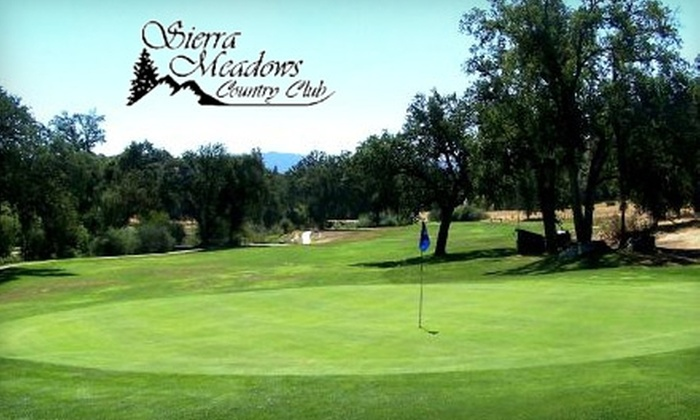 Sierra Meadows County Club - Oakhurst-North Fork: $25 for an 18-Hole Round of Golf and a Driving Range Ball Bucket in Ahwahnee (Up to $58 Value)
