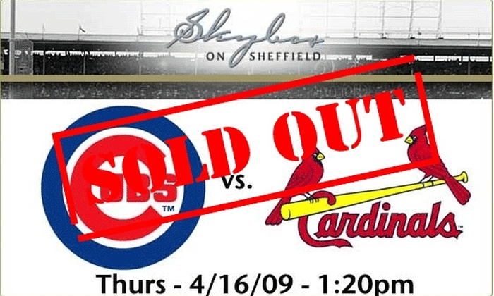 Skybox on Sheffield - Lakeview: Rooftop Tickets - Cubs vs Cardinals - $59