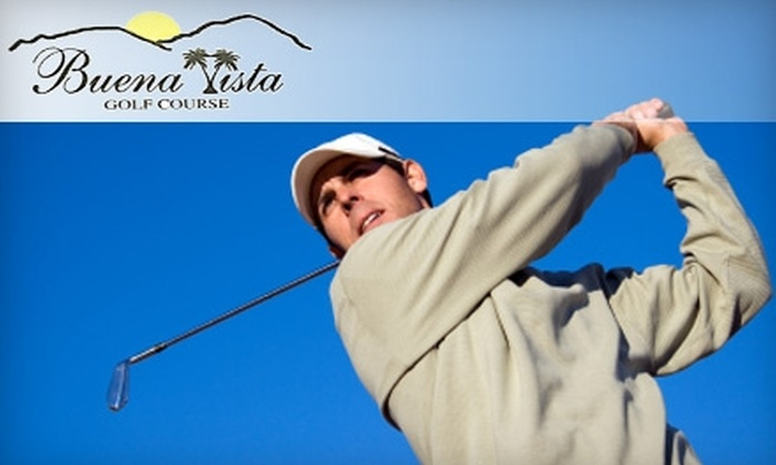 Buena Vista Golf Course - Westside: $45 for a Round of Golf for Two, Cart Rental, and Two Buckets of Range Balls at Buena Vista Golf Course (Up to $102 Value)