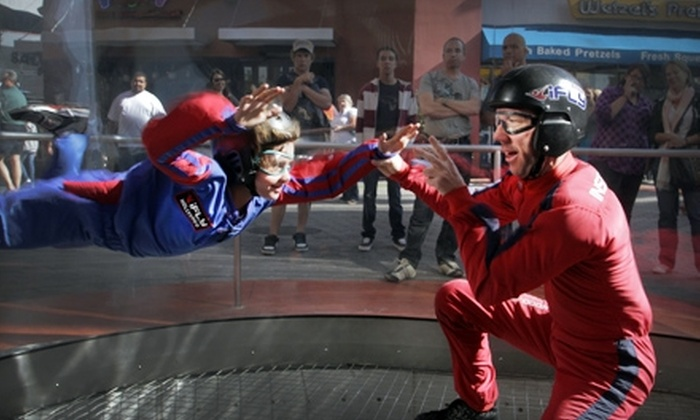"""iFly Hollywood - Studio City: """"Earn Your Wings"""" Indoor Skydiving Package Plus DVD of Your Flight at iFly Hollywood in Universal City ($87 Value)"""