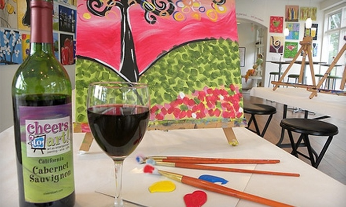 Cheers to Art! - Madeira: $17 for Painting Session at Cheers to Art! in Madeira (Up to $35 Value)