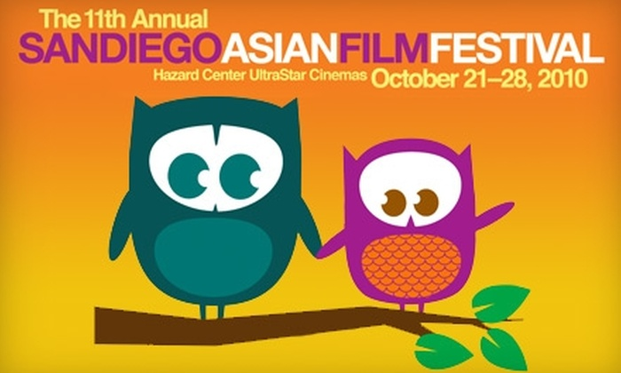 San Diego Asian Film Festival - Mission Valley East: $10 for Two Tickets to the 11th-Annual San Diego Asian Film Festival (Up to $21 Value)