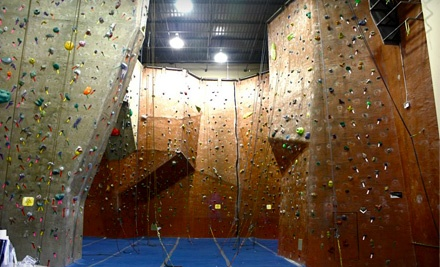 All-Day Climbing Pass that Includes Full Access to the Climbing Wall for One Day and Harness, Shoes, and Chalk-Bag Rental (a $20 value) - Summit Climbing Gym in Grapevine