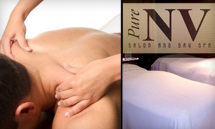 Pure NV Salon & Day Spa - Taylor: $30 for One 60-Minute Massage at Pure NV Salon and Day Spa