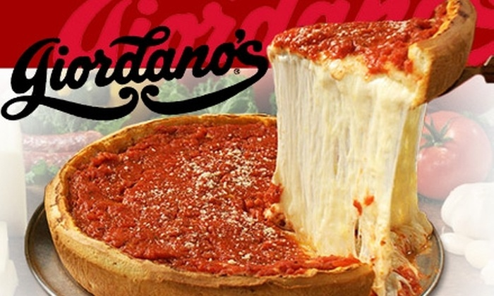 Giordano's Italian Restaurant and Pizzeria - Multiple Locations: $17 for $35 Worth of Pizza and Drinks at Giordano's Italian Restaurant and Pizzeria. Three Locations Available.