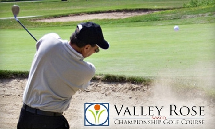 Valley Rose Golf Course - Wasco: $20 for 18 Holes for Two Plus Cart Rental at Valley Rose Golf Course in Wasco (Up To A $50 Value)