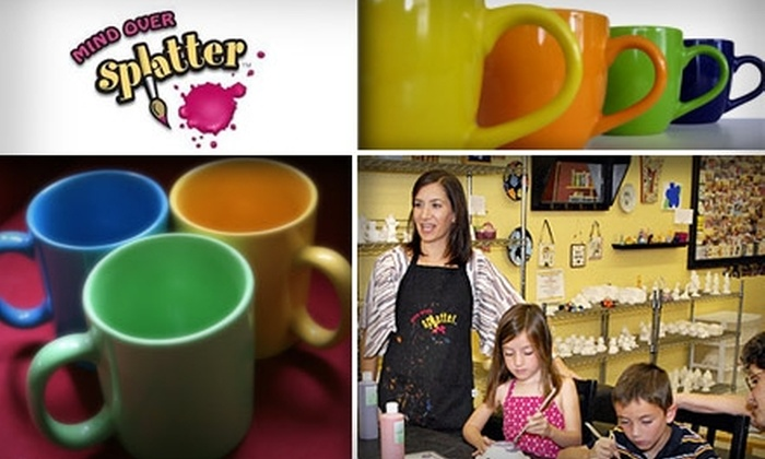 Mind Over Splatter - Downtown Chandler: $10 for $25 Worth of Painting Creativity at Mind Over Splatter