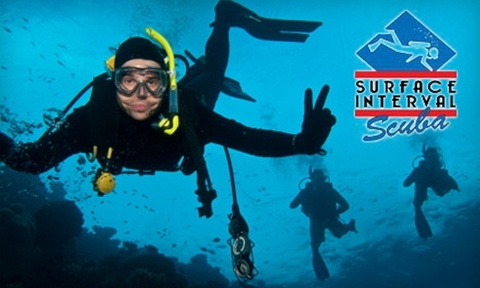 Surface Interval Scuba - Multiple Locations: $20 for a One-Hour Scuba-Diving Experience from Surface Interval Scuba ($50 Value)
