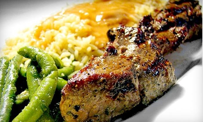 Aegean Restaurant - Multiple Locations: $20 for $40 Worth of Authentic Greek Cuisine at Aegean Restaurant