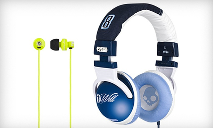 Skullcandy: Hesh NBA Jazz – DWill Headphones or Full Metal Jacket Ear-Bud Headphones & Shipping from Skullcandy. Two Options Available.