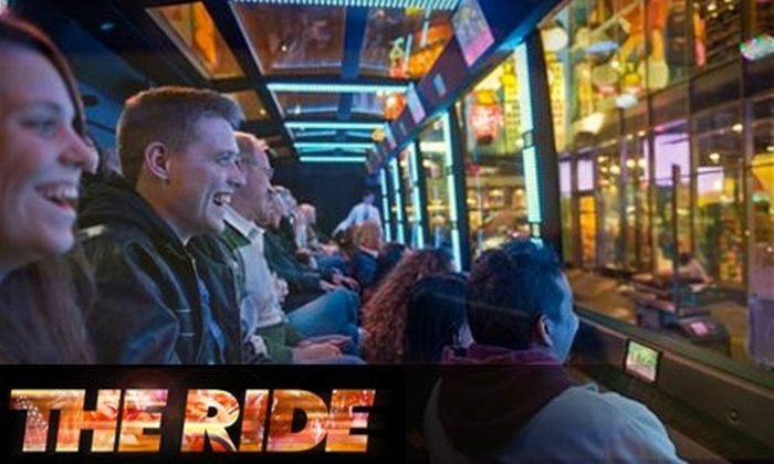 THE RIDE - Theater District - Times Square: $32 for a Single-Admission Ticket to THE RIDE in New York City ($65 Value)