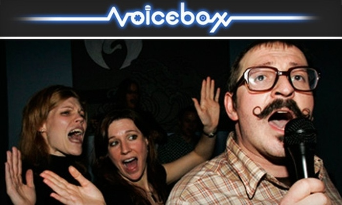 Voicebox - Northwest District: $10 for $20 (Fri.–Sat.) or $25 (Sun.–Thu.) Worth of Private Suite Karaoke, Eats, and Drinks at Voicebox