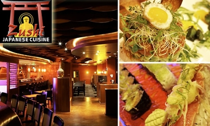 Zushi Japanese Cuisine - Washington Ave./ Memorial Park: $15 for $30 Worth of Japanese Fare and Drinks at Zushi