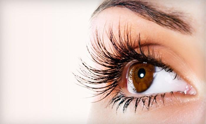 Guiltless Glow - Highland: Full Set of Basic, Lush, or Glamor Eyelash Extensions at Guiltless Glow (Up to 67% Off)