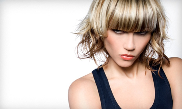 The Ultimate Hair Salon - Strathcona Park: Hairstyling Package with Foil Highlights or Men's or Women's Cut and Style at The Ultimate Hair Salon (Up to 59% Off)