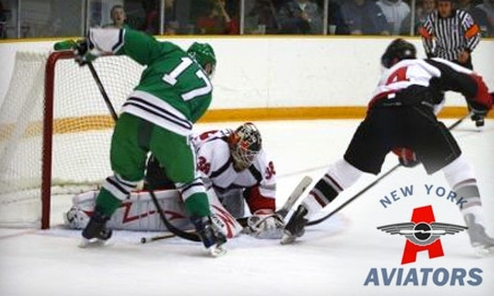 $17 for Two Skybox VIP Tickets to a New York Aviators Hockey Game at Floyd Bennett Field ($34 Value). Six Games Available.