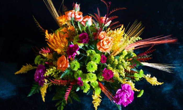 Wild Bunch Flowers - North Mountain: Small, Medium, or Large Holiday Floral Arrangement from Wild Bunch Flowers (58% Off)