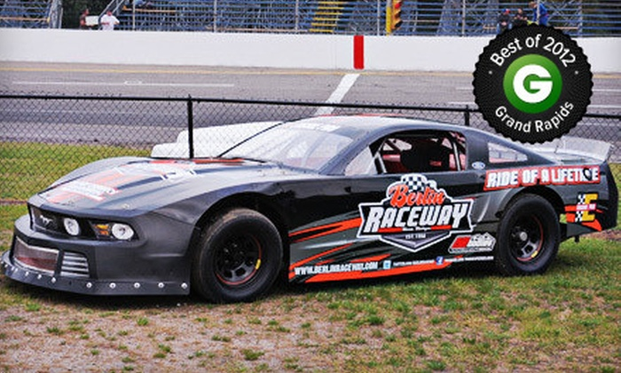 Berlin Raceway - Wright: Eight-Lap Ride-Along with a Racecar Driver for One or Two at Berlin Raceway (Up to 58% Off)