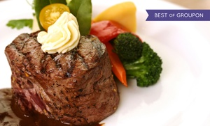 Haab's Restaurant: Steak-House Dinner for Two or Four or Lunch at Haab's Restaurant (Up to 51% Off)