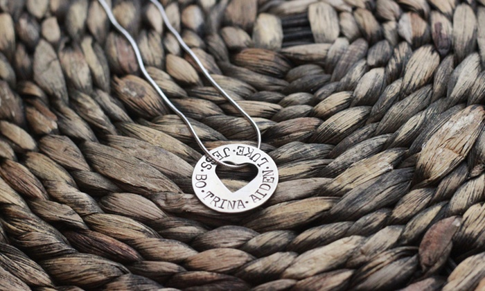 Love Stamped: $19 for a Hand-Stamped Around My Heart Necklace from Love Stamped ($40 Value)
