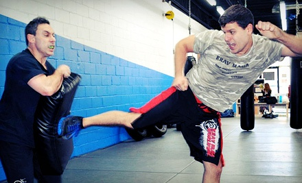 5, 10, or 20 Krav Maga Classes or a Three-Hour Women's Self-Defense Workshop at KMLI's Blitz Krav Maga (Up to 78% Off)