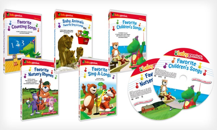 Baby Genius DVD Set: $25 for a Baby Genius Five-Disc DVD Set ($49.90 List Price). Free Shipping and Free Returns.