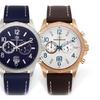 Pierre Bernard Arcturian Men's Leather Chronograph Watch